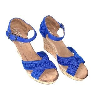 Tom's Wedges in Blue